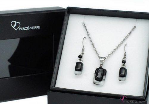 Ensemble Mini bijoux noirs