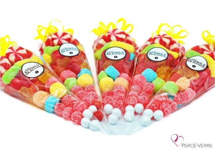 Cones de bonbons-candy-percé-verre-cadeau.