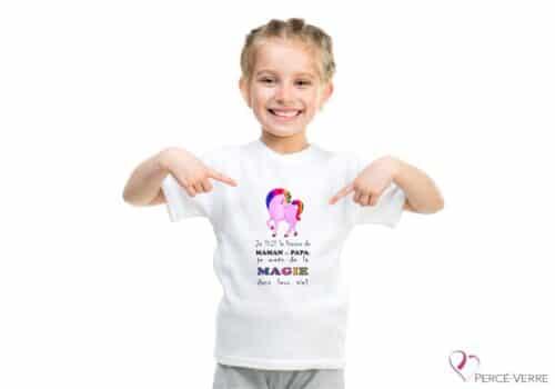 t-shirt enfants licorne de maman et papa