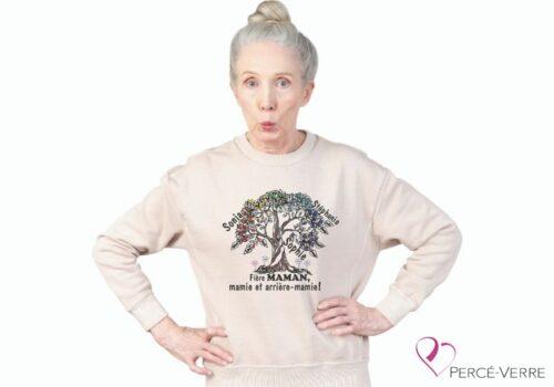 T-Shirt Arbre de vie Maman-Mamie-Arrière Mamie